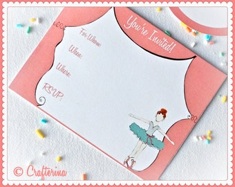 Ballerina Birthday Party Kit Printable PDF Craft - Download - DIY - Party Favors - Child Toy - Play & Pretend