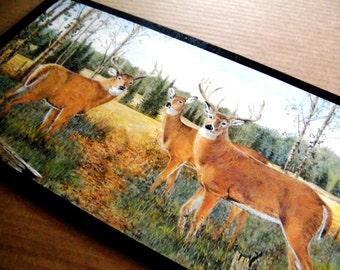 Wood BUCK Doe DEER Lodge Sign  Country Hunting Lake Cabin Retro Primitive Vintage Northwoods