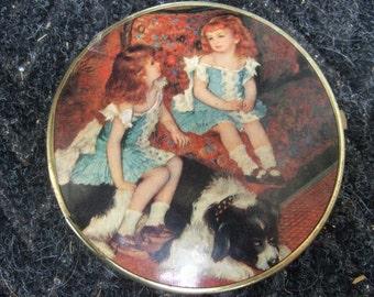 1950s Vanity Portrait Compact Mirror