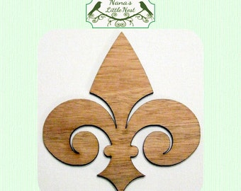 Fleur De Lis Wood Cut Out - Laser Cut