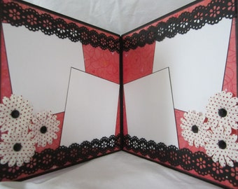 Vintage Valentine Scrapbook Album, Premade Mini  Album by Island Lilly Designs