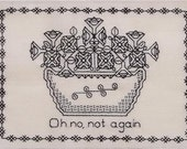 Petunias Blackwork Pattern Hitchhiker's Guide to the Galaxy