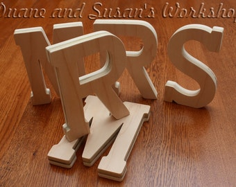 Mr & Mrs 8 inch DIY wooden sign, sweetheart table, wedding,