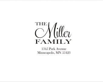 Custom Address Self Inking or  Rubber Stamp -  Miller Family