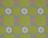 HUGE SALE- 1 Yard Fabric-Taj in Green by Ty Pennington Impressions for FreeSpirit Fabrics