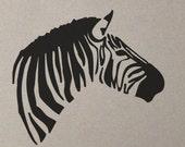 Zebra Head - Wall Decal Vinyl Decor Art Modern Removable Sticker Mural uBer Decals A769