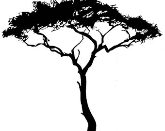 African Tree - uBer Decals Wall Decal Vinyl Decor Art Sticker Removable Mural Modern A105