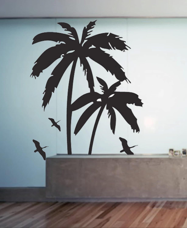 palm trees uber decals wall decal vinyl decor art sticker. Black Bedroom Furniture Sets. Home Design Ideas