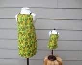 SALE Matching Girl Doll Clothes - Apple and Pear Apron Set - M2M