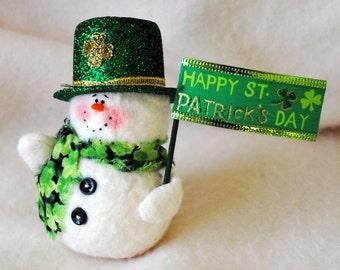 St. Patrick's Day Snowman