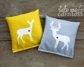 Cornhole Bags - Full Set (8 bags) // Deer Love