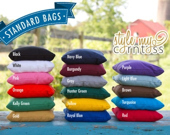 8 Cornhole Bags - Solid Colors (Full Set - 2 sets of 4 bags)