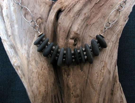 Lake Superior Natural Basalt stone Tribal Necklace