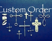 Cross Sterling Necklace handmade jewelry - Custom Order from francofrancofranco