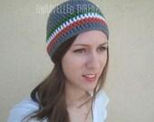 Crochet Beanie Hat, Irish Beanie, St. Patrick's Day, Irish Flag Colors, Adult Beanie