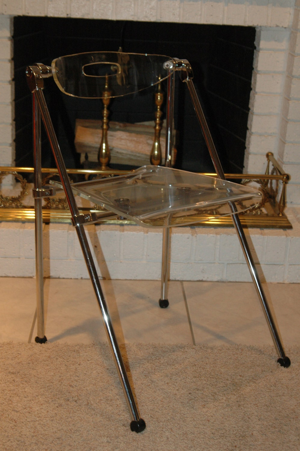 Modern Clear Acrylic Folding Chair by goodwillhunting1 on Etsy