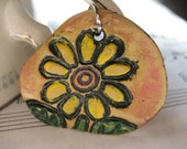 Yellow Daisy in the round Pendant