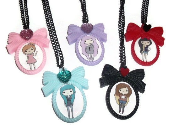 Tumblr girls pastel goth kawaii cute necklace choose 1