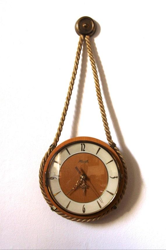 Vintage Kienzle Wall Clock Nautical Rope German Art Deco