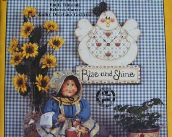 Chick Bloom Chick Tole Painting Pattern Book Instruction Booklet by Gaye Shoell Emily Dinsdale Rebecca Carter Kathy Distefano Griffiths