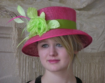 Raspberry and Lime Hat
