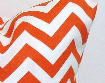 ORANGE CHEVRON PILLOW.16x20, 16x24 or 12x20 inch.Pillows.Decorative Pillow Cover.Housewares.Outdoor Decor.Indoor.Outdoor.Home..Cushion.Cm