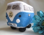 VW Campervan Gift VW Campervan Plush Collectible Toy Personalized Made to Order