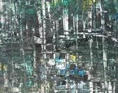 Original Abstract Painting, Abstract Art, Acrylic, Colorful Modern Art, Reflection, Robert Gibbs, Black, Blue, Green