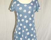 Periwinkle Blue Daisy Mini Dress