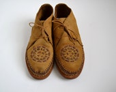 Tribal Brown Airgum Moccasins Unisex size 9 Men, 10.5 Women - NinasDream