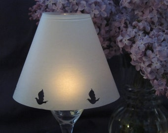 Wine Glass Shades - Vellum Luminaries with Doves - Set of 20 Shades