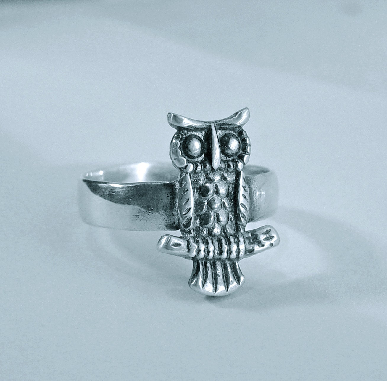 owl ring owl jewelry owl gift owl for sterling silver
