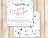 Confetti Party Invitation--Great for Couples Showers, Engagement Parties, Cocktail Parties, Bachelorette Parties or Bridal Showers