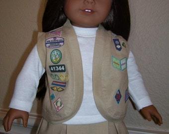 18 Inch Doll Clothes - Cadette Girl Scout Uniform