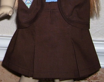 18 Inch Doll Clothes -Brownie Girl Scout Skirt