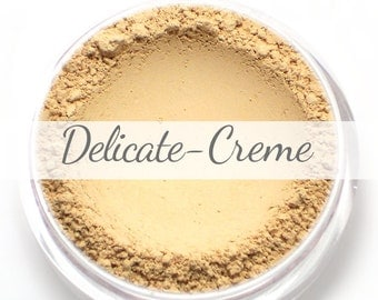 Vegan Mineral Foundation Sample - Delicate Formula CREME - light/pale shade with a pink undertone