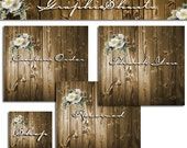 Banner  - Etsy Shop Banner Set - Premade Banner - Banners and Avatars - Header - Boutique Wood Set (Or Web / Social Media Banner)