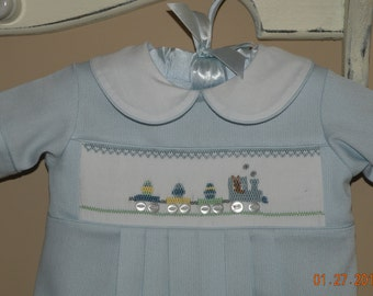 Baby Boy Hand Smocked Easter Outfit