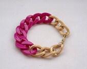 Bright pink / Magenta Chain Bracelet