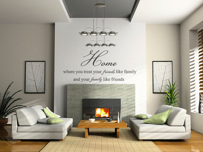 Family Quote Wall Decals Home Decor Wall Quotes Living Room