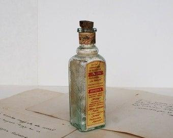 Antique Medical/Perfume Bottle - Apothecary Bottle - Medium - 1930's