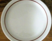 7 Shenango Red Line Bread and Butter Plates