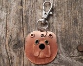 Keychain Key Chain ID Tag Chow Chow Dog Pet Lover Copper Custom Rivets Stamped