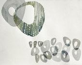 circular pairs (original watercolor 16 x 12 inch)