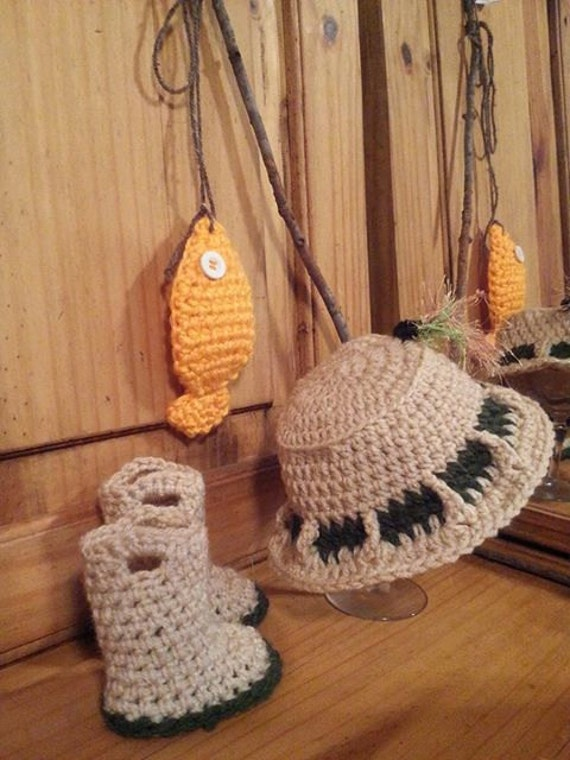 Items similar to pattern for crocheted fishing hat water for Baby fishing hat