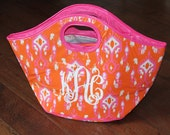 SALE - Ikat Cooler Tote Monogrammed Personalized