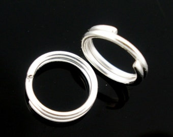 100pcs 5mm Silver Plated Split Ring - Jewelry Finding, Jewelry Making Supplies, Necklace Finding Bracelet Finding DIY Ships from USA - JR30