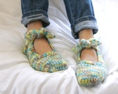 Cute wool multicolor home slippers