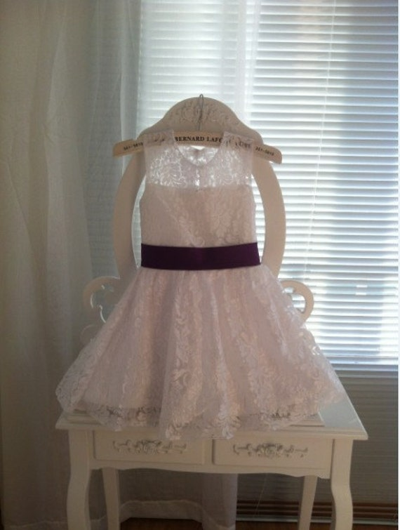 Lace Flower Girl Dress with Satin Sash