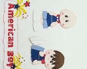 Custom Order for Karen:  American Boy  Premade Scrapbook Paper Piecings